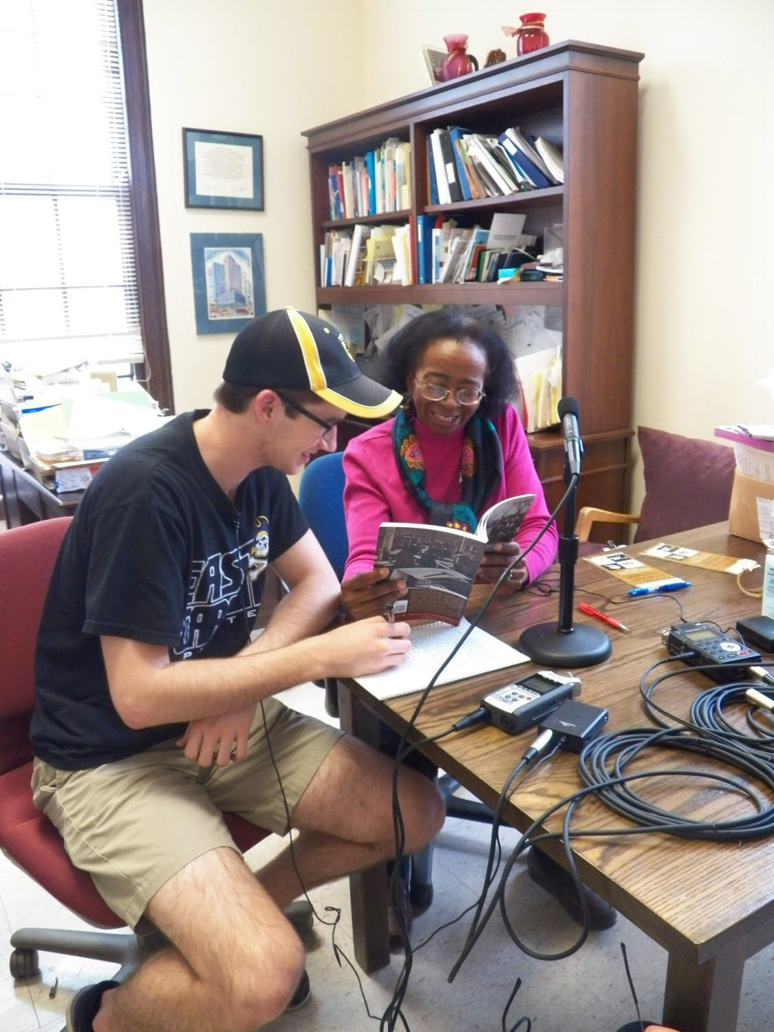 dr jackie burnside and student interview berea public art dr jackie burnside and student interview